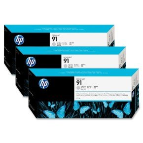 HP 91 775ml Light Grey Ink Cartridge - 3 Pack