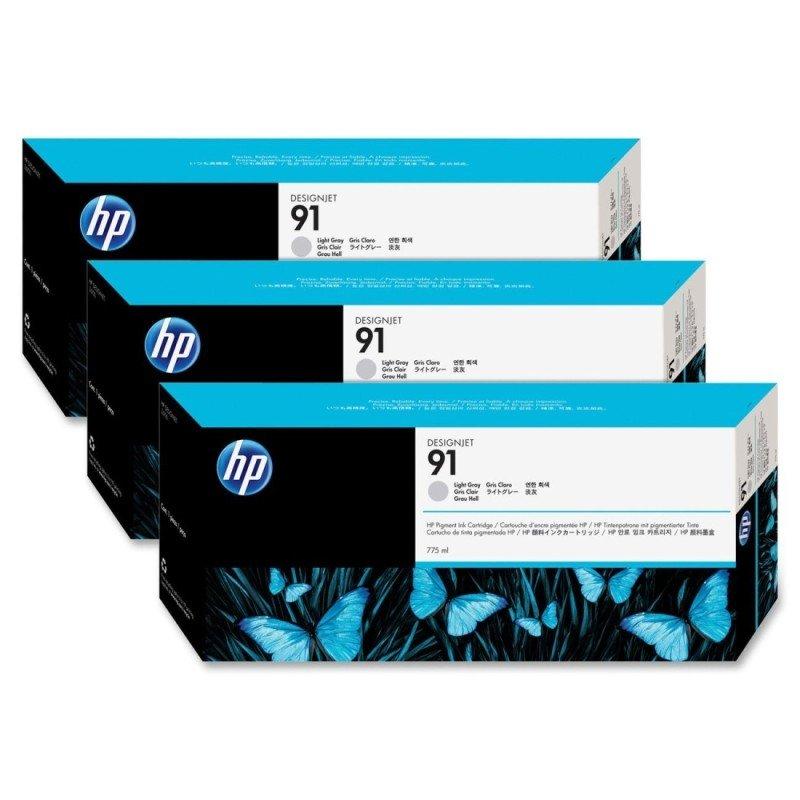 HP 91 Multi-pack 3x Light Gray OriginalInk Cartridge - Standard Yield775ml - C9482A