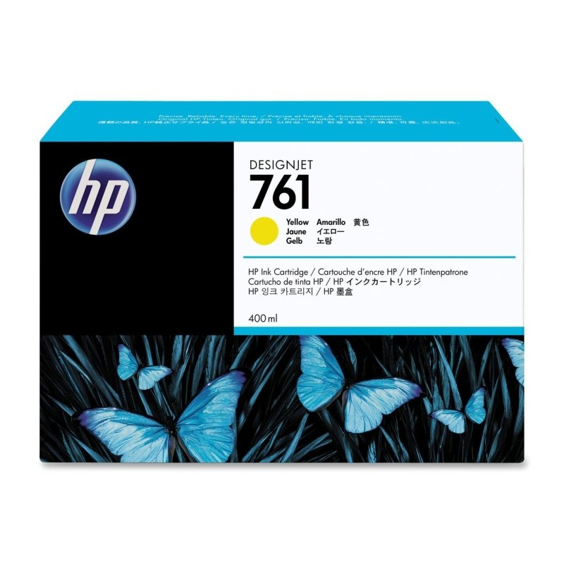 HP 761 Yellow	Original Ink Cartridge - Standard Yield 400ml	 - CM992A