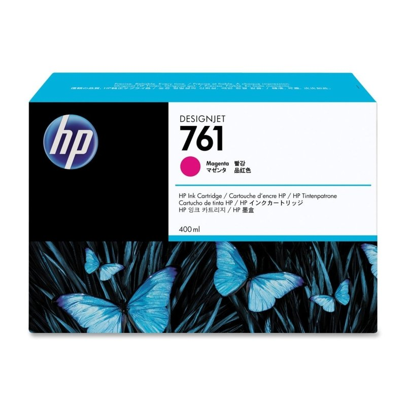 HP 761 Magenta Original Ink Cartridge - Standard Yield 400ml - CM993A