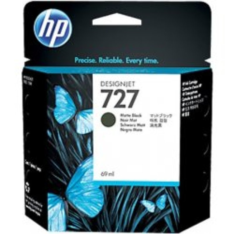 HP 727 Matte Black OriginalDesignjet Ink Cartridge - High Yield 300ml - C1Q12A