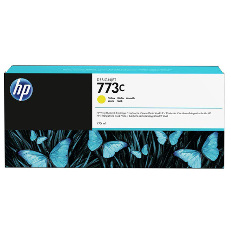 HP 773C 775ml Yellow Ink Cartridge - C1Q40A