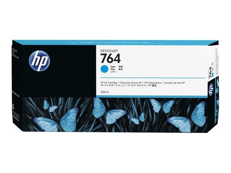 HP 764 Cyan OriginalDesignjet Ink Cartridge - Standard Yield 300ml - C1Q13A