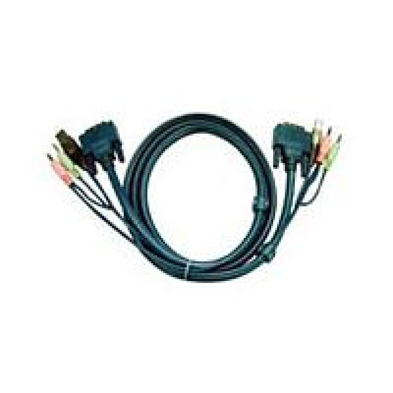 Aten 2L7D03U DVI KVM Cable  DVI  USB  Audio for CS Series 3m