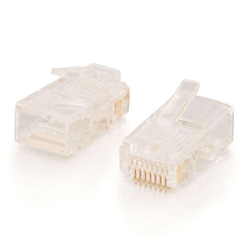 C2G RJ45 Cat5 8 x 8 Modular Plug for Round Stranded Cable - 50pk