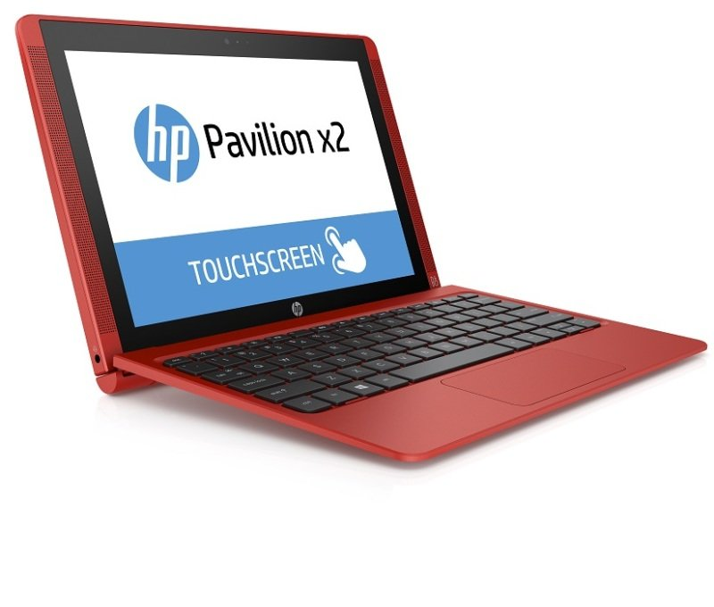 "Image of HP Pavilion x2 10-n002na Convertible Laptop, Intel Atom Z3736F 1.33GHz, 2GB RAM, 32GB eMMC, 10.1"" Touch Screen, Intel Hd Graphics, Webcam, Bluetooth, Windows 8.1 32bit, Red"