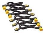 Power Cord Kit (6 Ea), Locking, C13 To C14 (90 Degree), 1.2m