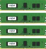 Crucial 16GB Kit (4GBx4) DDR4 2133 MT/s (PC4-2133) CL15 SR x8 ECC Registered DIMM 288pin Desktop Memory