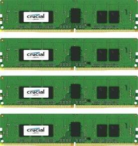 Crucial 16GB Kit (4GBx4) DDR4 2133 MT/s (PC4-2133) CL15 SR x8 ECC Registered DIMM 288pin Desktop Memory