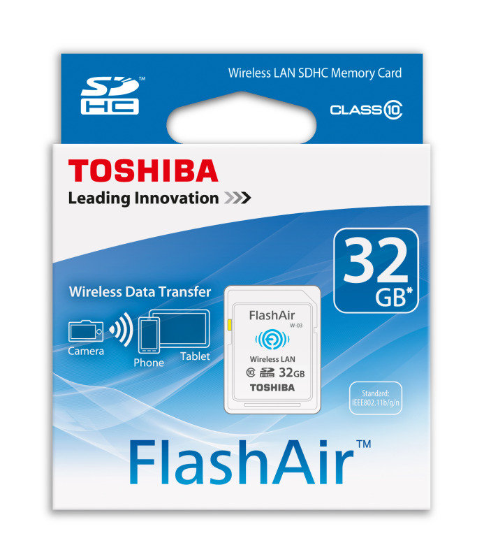 Toshiba 32GB FlashAir W-03 Class 10 Wireless LAN SD Card