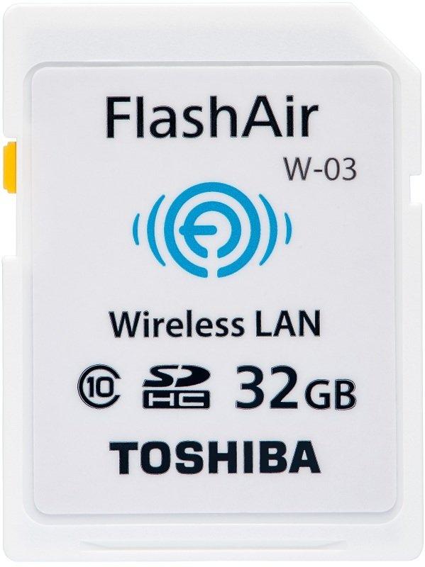 Image of Toshiba 32GB FlashAir W-03 Class 10 Wireless LAN SD Card