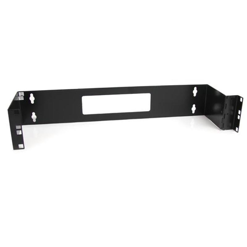 Startech 2u 19 Inch Hinged Wall Mount Bracket For Patch Panels (black)
