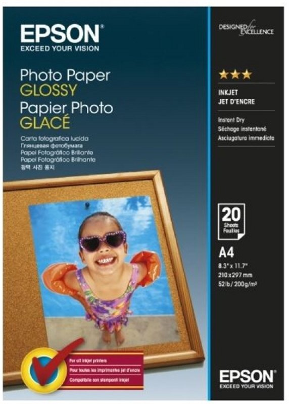 Epson A4 Photo Paper Glossy - 20 sheet