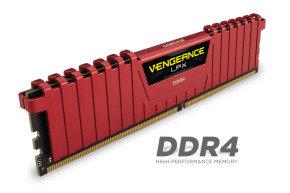 Corsair Vengeance LPX 8GB (2x4GB) DDR4 DRAM 2133MHz C13 Memory Kit - Red