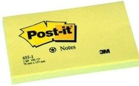 Post-it Notes 76x127mm Canary Yellow - (pk12)