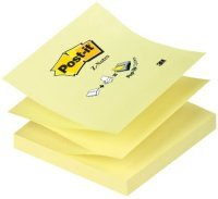 Post-it Z-notes Refill 76x76mm Canary Yellow - (pk12)