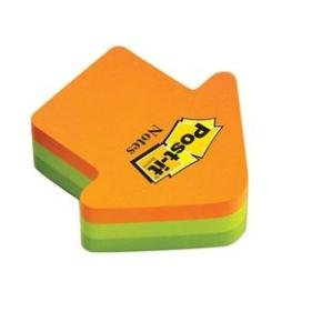 Post-it Arrows Block Pad 70x70mm - Neon Orange/green