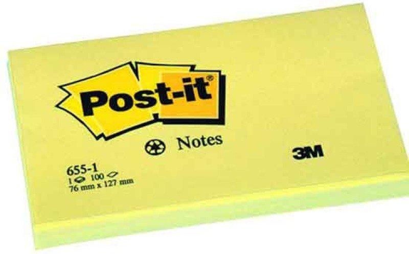 Post-it Super Sticky 76x127mm Daffodil Yellow- (pk12)