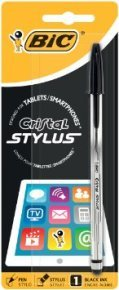 Bic Cristal Stylus Pen Black - Pack 12