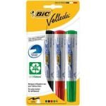 Bic Velleda Whiteboard Marker 15mm - Assorted 1701 (pk4)