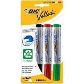 Bic Velleda Whiteboard Marker 15mm - Assorted 1701 (pk4)