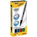 Bic Velleda Whiteboard Marker Liquid Ink Assorted (pk4)