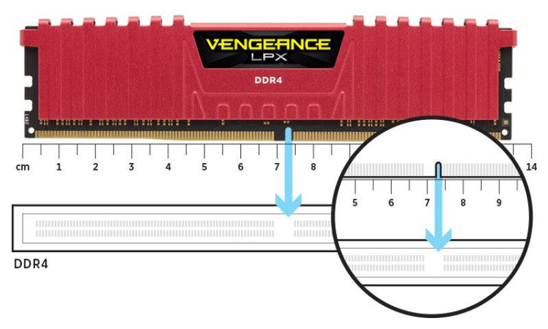 Corsair Vengeance LPX 16GB (2x8GB) DDR4 DRAM 2400MHz C14 Memory Kit - Red 1.2V