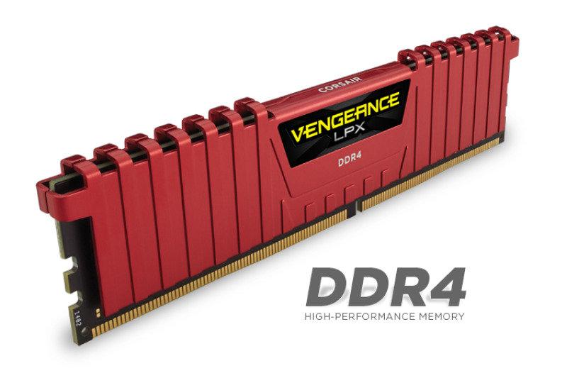 Corsair Vengeance LPX 8GB (2x4GB) DDR4 DRAM 2400MHz C14 Memory Kit - Red 1.2V