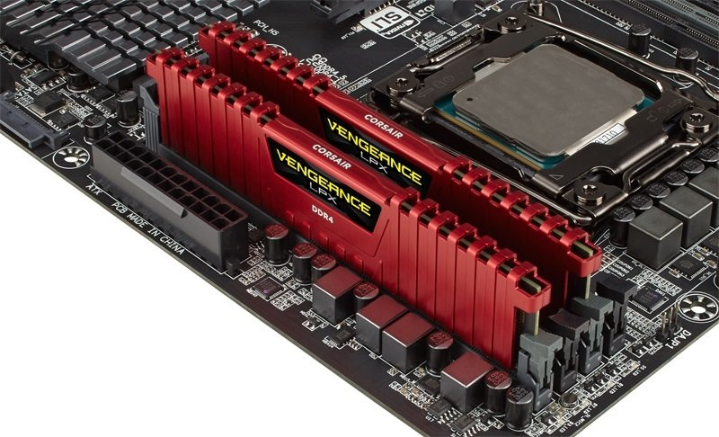 Corsair Vengeance LPX 8GB (2 x 4GB) DDR4 DRAM 3200MHz Red 1.35V