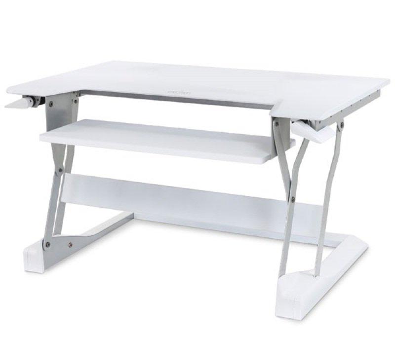 Ergotron WorkFit-T Sit/Stand Desktop Work Station White