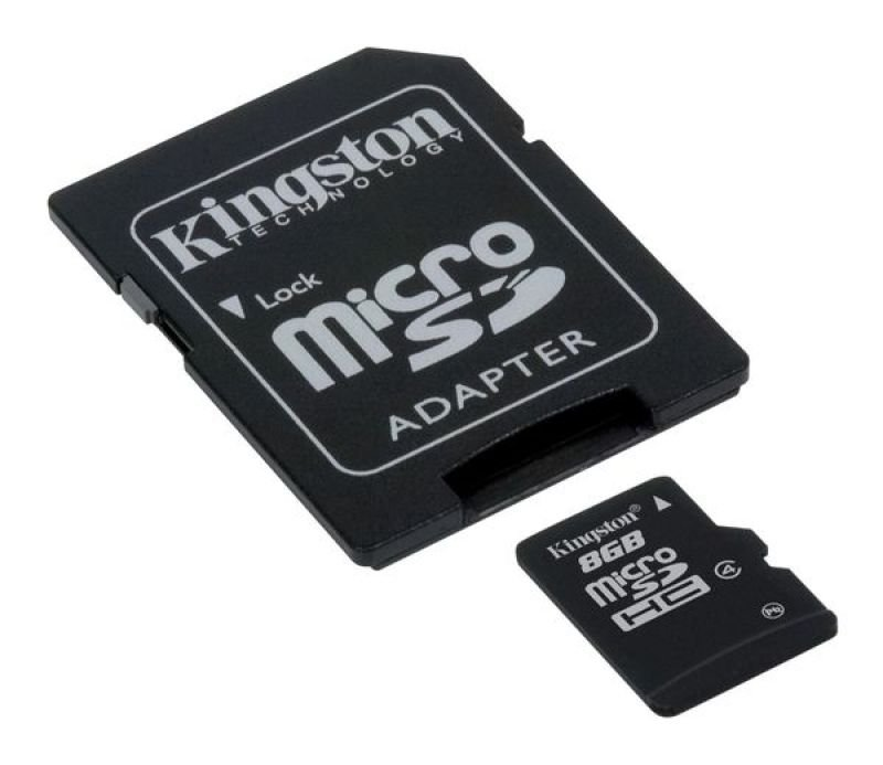 Kingston 8GB Class 4 MicroSDHC Card  With Adapter