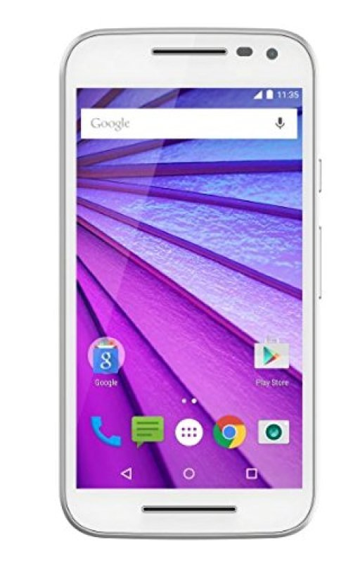 Image of MOB/Moto/Moto G 3rd Gen LTE Callisto Wht - 5-inch, 720p HD (1280 x 720) - Snapdragon 410 - 1.4 GHz Quad Core - 13 MP Rear Camera - 5MP Front Camera - 8GB Storage + expandable microSD - Android Lollipop 5.1.1