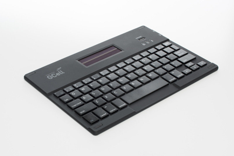 Image of Bluetooth Solar Keyboard - Luxury Folio To Fit Ipad Air 1 2
