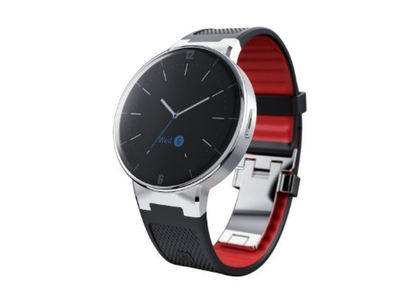 Image of Alcatel ONETOUCH Smartwatch - Black/Red Strap