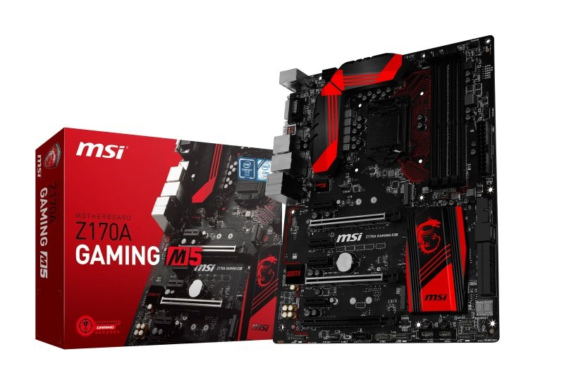 MSI Z170A GAMING M5 Socket 1151 DVI HDMI 8-channel Audio ATX Motherboard