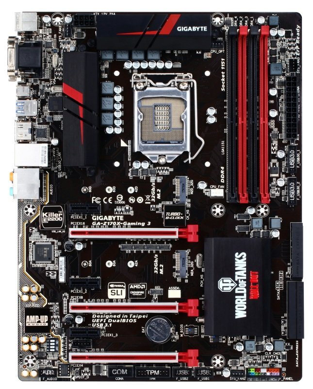 Gigabyte GA-Z170X-GAMING 3-EU Socket LGA1151 HDMI 7.1 Channel Audio ATX Motherboard