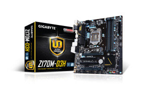 Gigabyte GA-Z170M-D3H Socket LGA1151 HDMI 7.1 Channel Audio MATX Motherboard