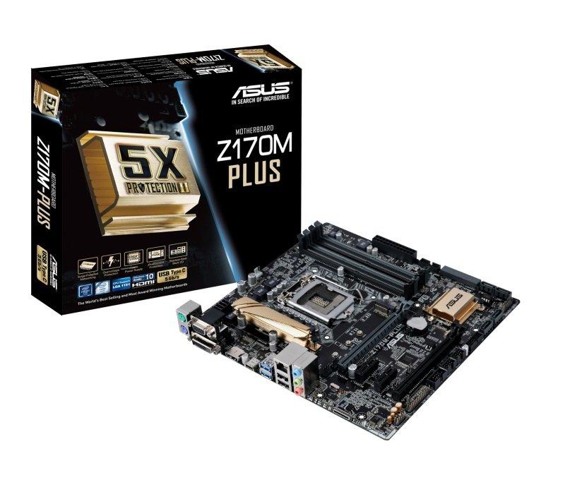 Asus Z170MPLUS Socket LGA1151 DVID HDMI 8 Channel Audio MicroATX Motherboard