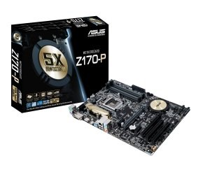 Asus Z170-P Socket 1151 DVI-D HDMI 8-channel HD audio ATX Motherboard