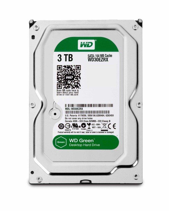 "WD Green 3TB 3.5"" SATA Desktop Hard Drive"