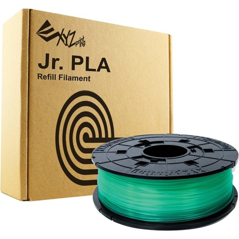 XYZ Da Vinci Junior 600g PLA Filament Cartridge - Clear Green