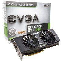 EVGA GTX 960 SuperSC GAMING ACX 2.0+ 4GB GDDR5 DVI HDMI 3x DisplayPort PCI-E Graphics Card