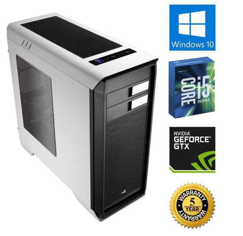 Image of Chillblast Fusion Colossus Gaming PC, Intel Core i5-6600K 4.4GHz (Overclocked), 16GB RAM, 1TB HDD, 120GB SSD, No-DVD, NVIDIA GTX970 4GB, Windows 10 64bit