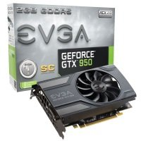 EVGA GeForce GTX 950 SuperClocked GAMING 2GB GDDR5 DVI-I HDMI 3x DisplayPort PCI-E Graphics card
