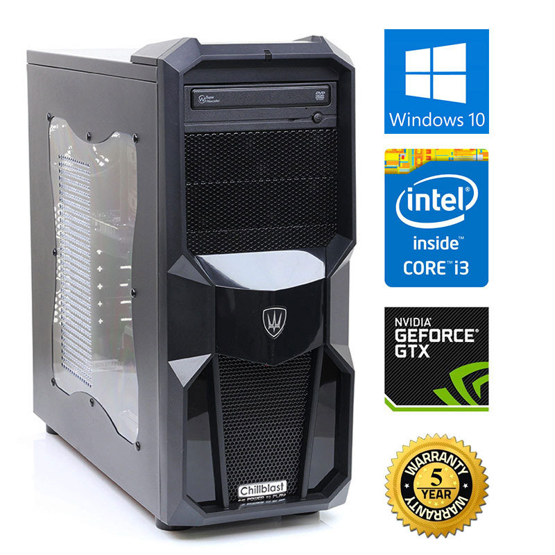 Image of Chillblast Fusion Shield 2 Gaming PC, Intel Core i3-4170 3.7GHz, 8GB RAM, 1TB HDD, DVDRW, NVIDIA GTX 750Ti, Windows 10 64bit