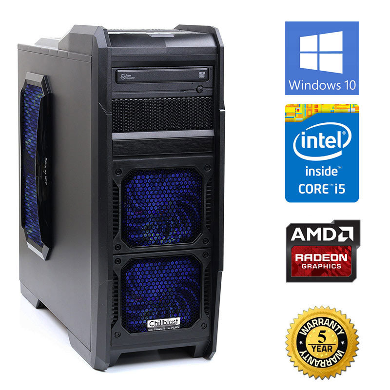 Image of Chillblast Fusion Sword 2 Gaming PC, Intel Core i5-4430, 8GB RAM, 1TB HDD, DVDRW, AMD R7 265, Windows 10 64bit