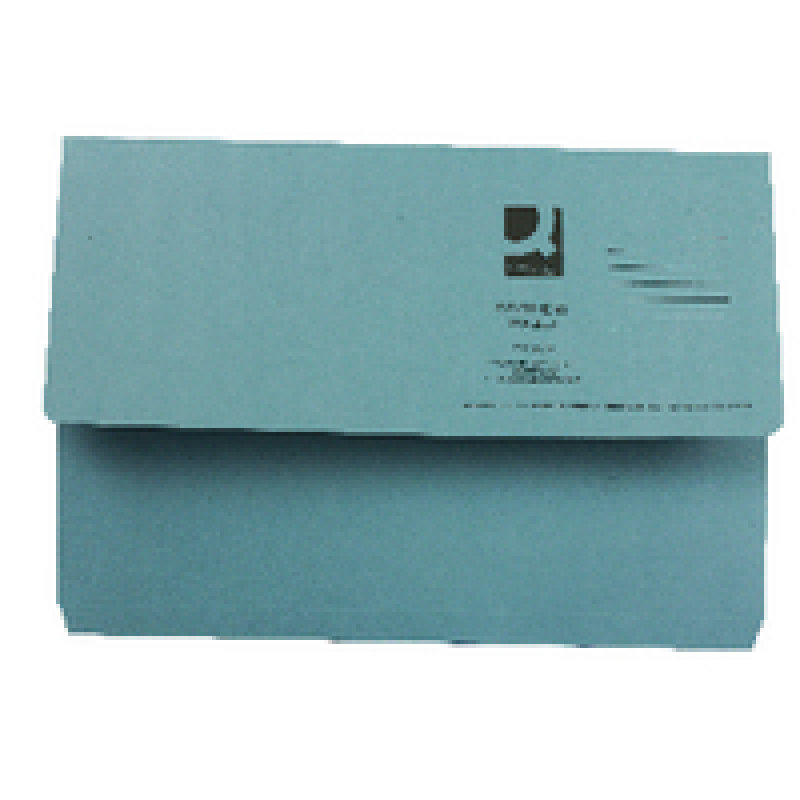Q Connect Document Wallet Fc Blue - 50 Pack