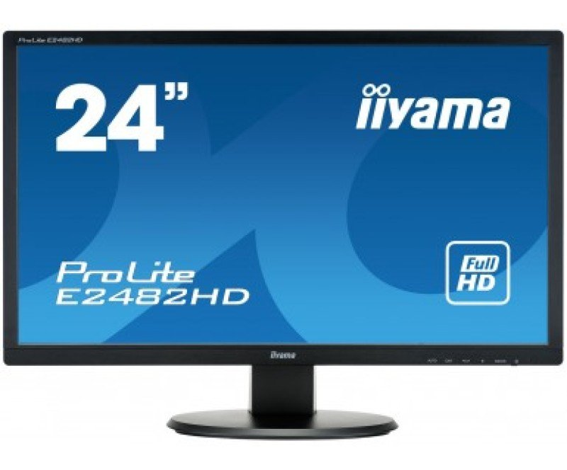 "Iiyama Prolite E2482HD-B1 24"" VGA DVI Full HD Monitor"