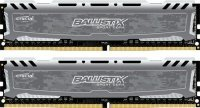 Crucial Ballistix 16GB Kit (8GBx2) DDR4 2400 MT/s (PC4-19200) CL16 DR x8 Unbuffered DIMM 288pin Memory
