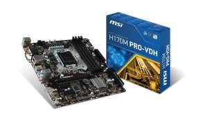 MSI H170M PRO-VDH Socket 1151 VGA DVI-D HDMI 8-channel Audio Motherboard